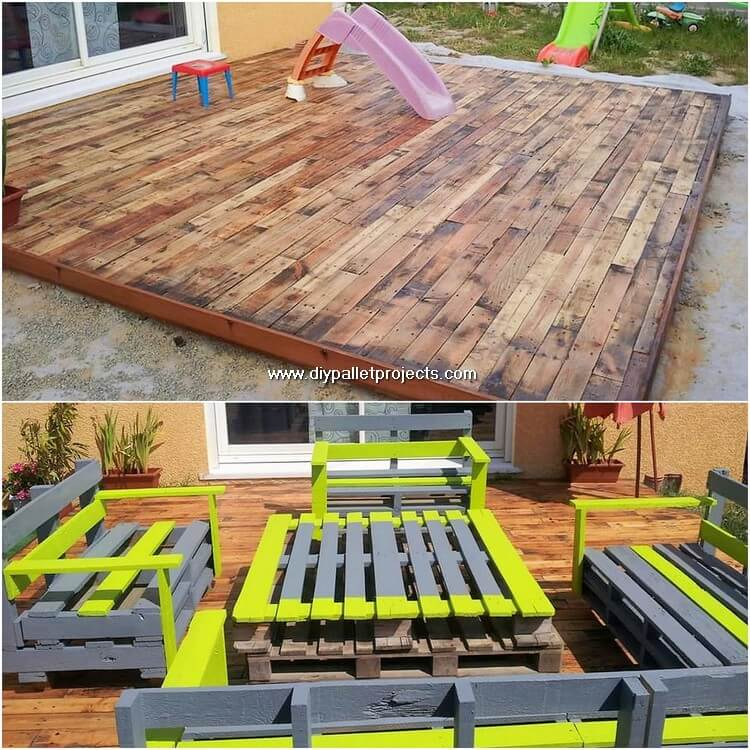 Pallet Garden Terrace and Outdoor Furniture