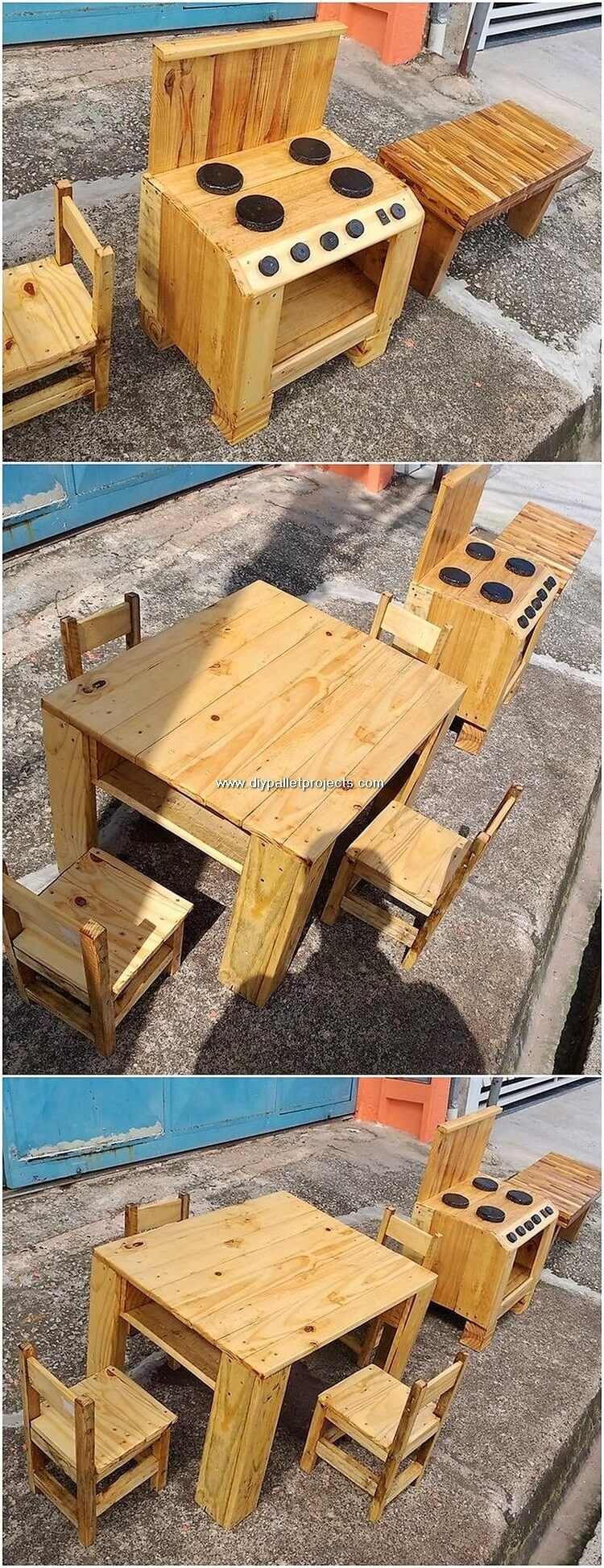 Pallet Kitchen and Furniture for Kids