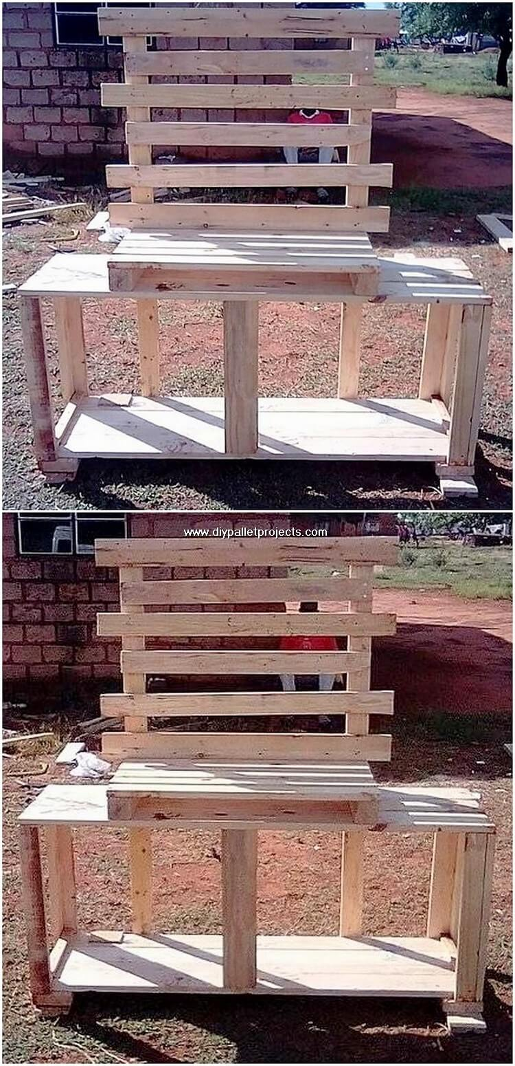 Pallet Media Table or TV Stand