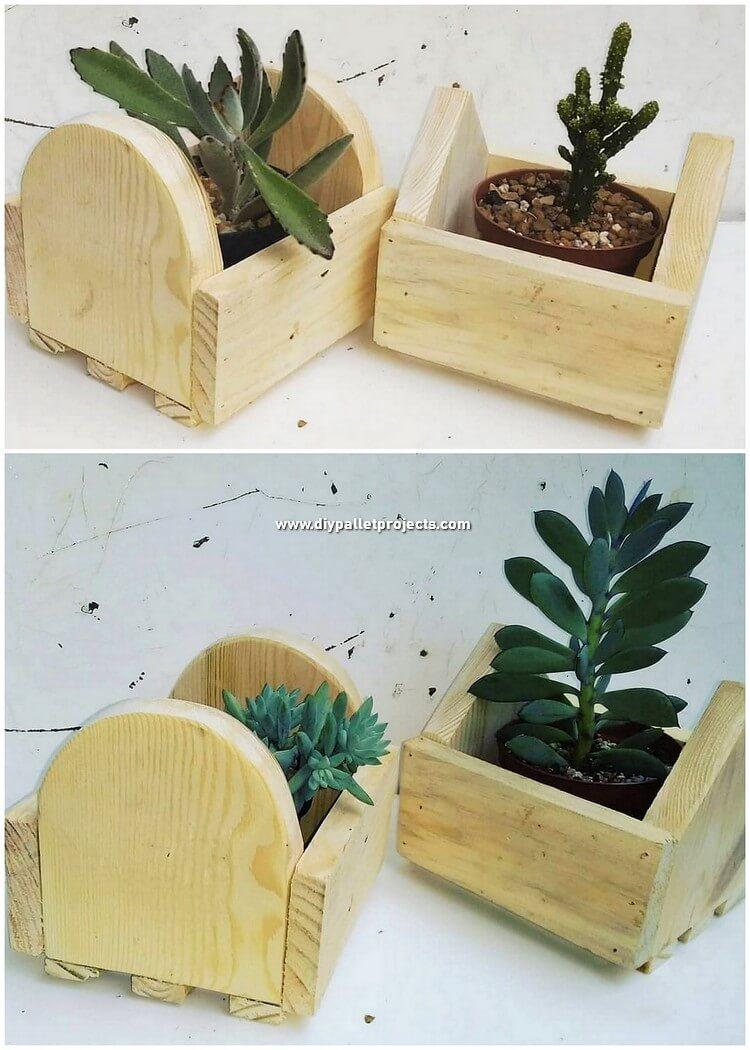 Pallet Planter Pots