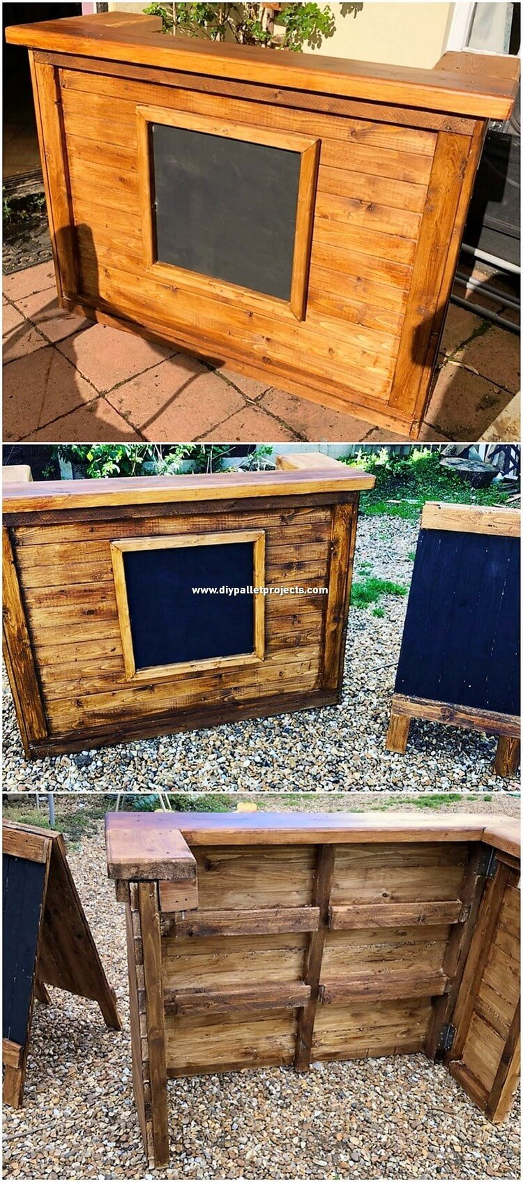 Pallet Wooden Counter Table