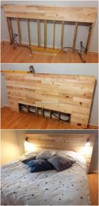 DIY Pallet Bed Headboard