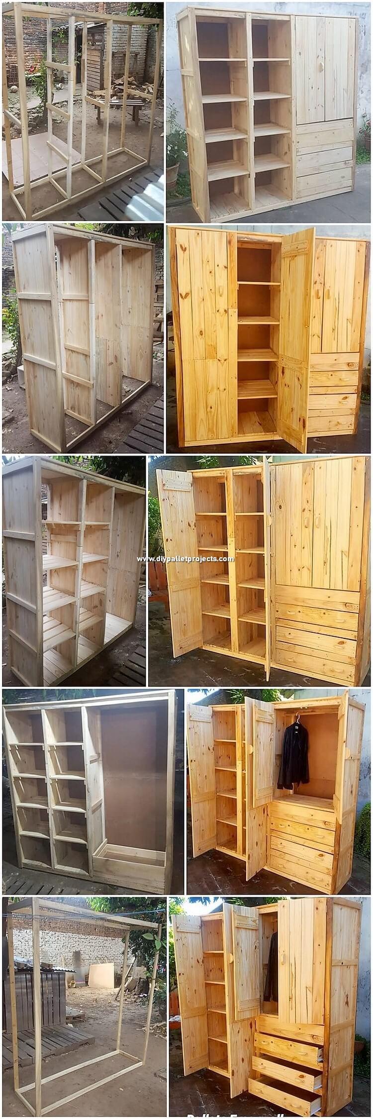 DIY Pallet Closet or Wardrobe