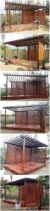 DIY Pallet Garden Terrace