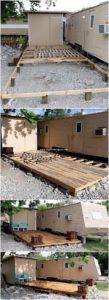 DIY Pallet Wood Garden Terrace