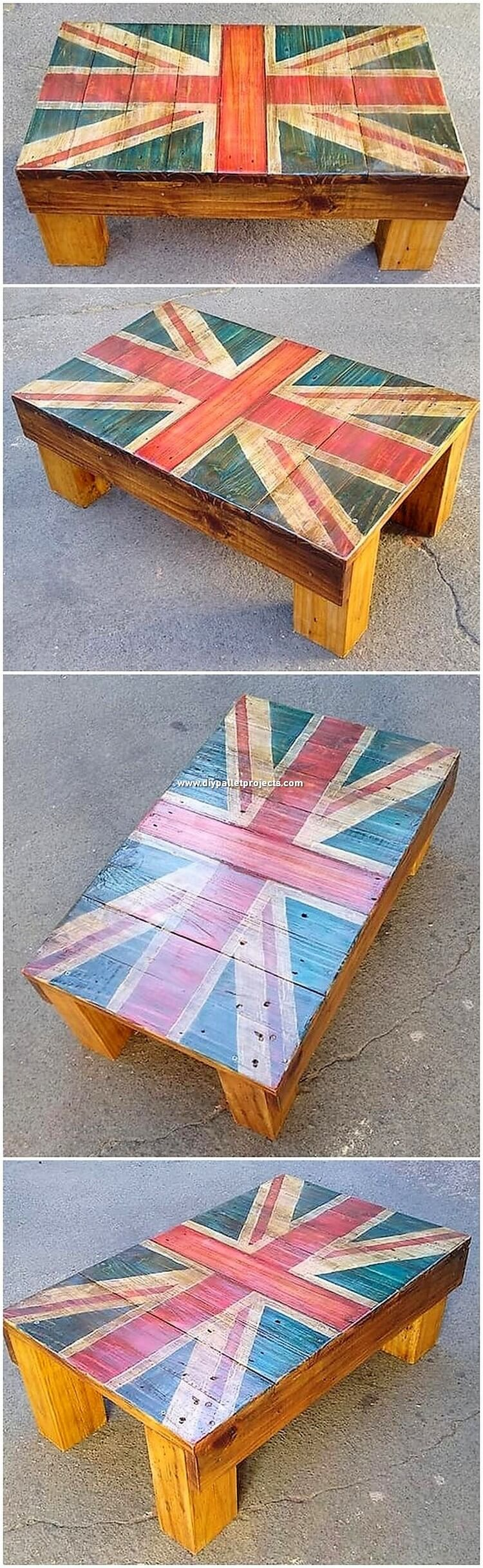 Flag Top Pallet Table