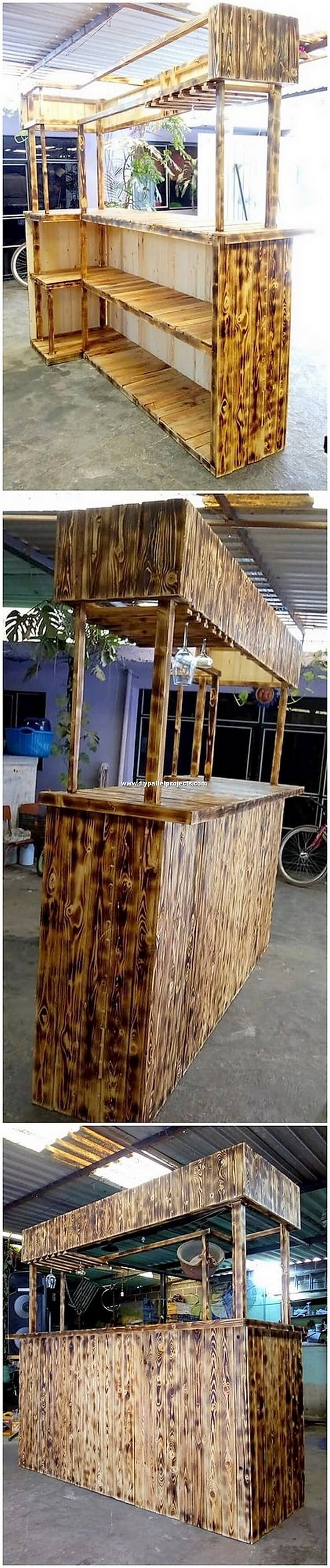 Pallet Bar Counter