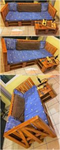 Pallet Bench with Table
