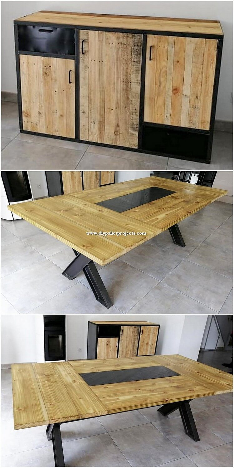 Pallet Cabinet and Table