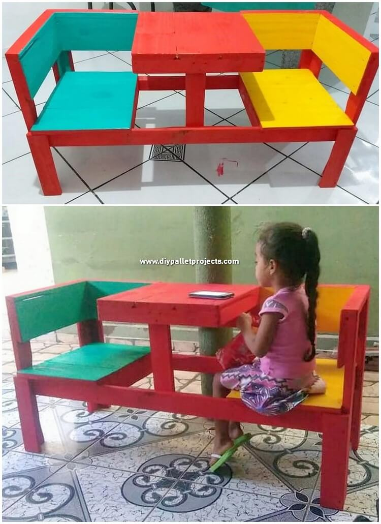 Pallet Chairs with Table