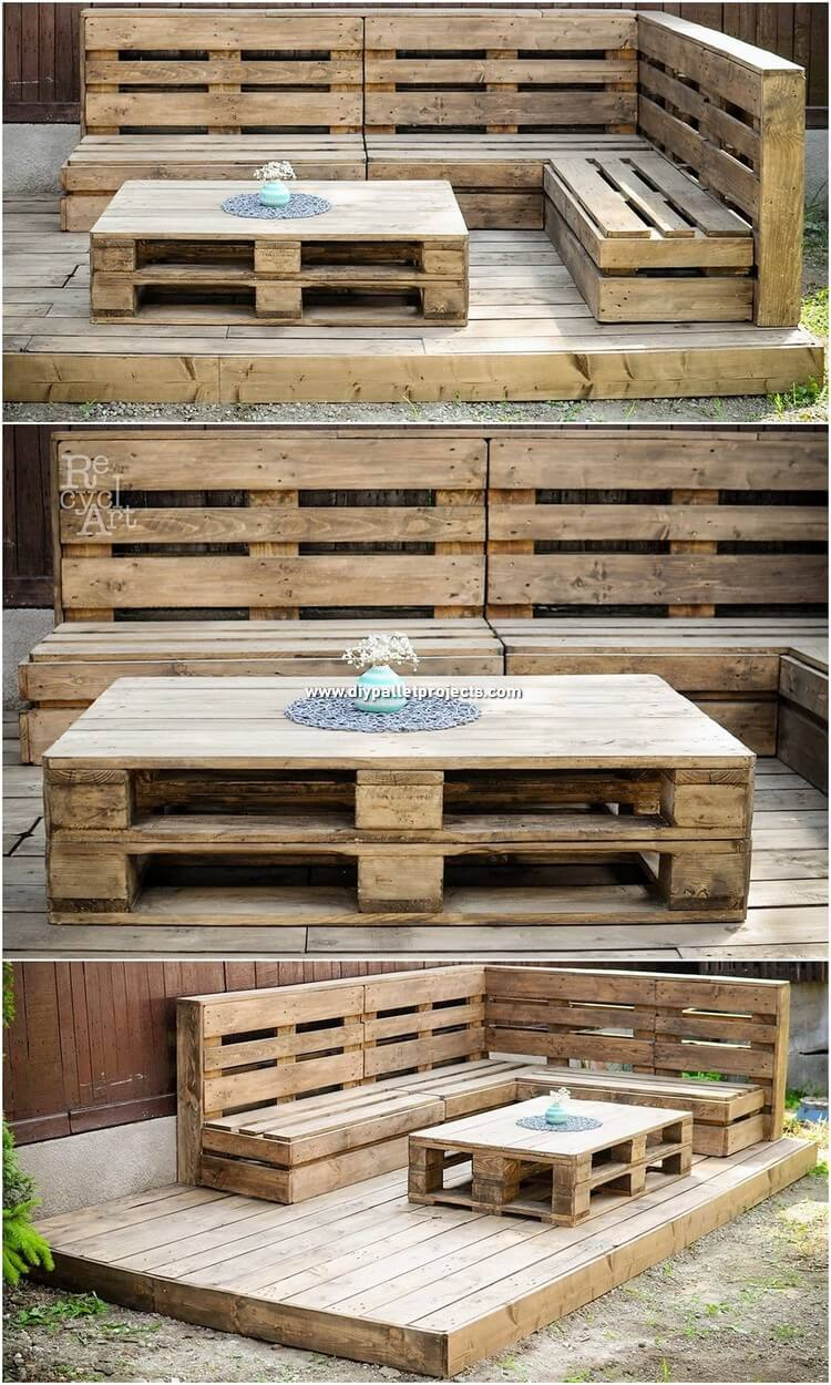 Pallet Garden Couch with Terrace