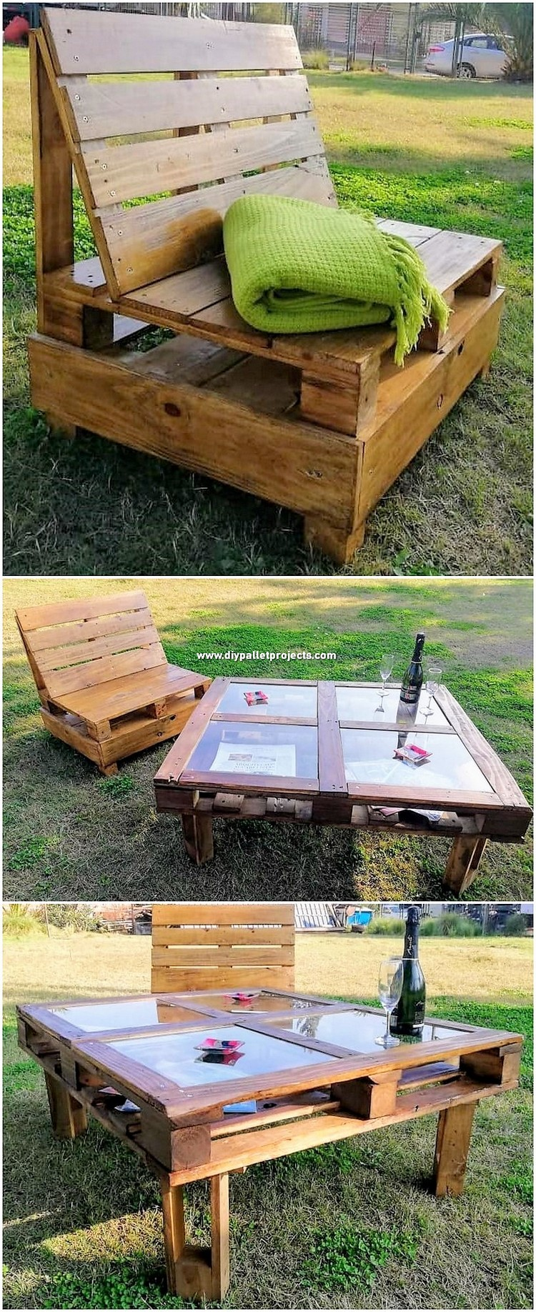 Pallet Garden Table and Chair