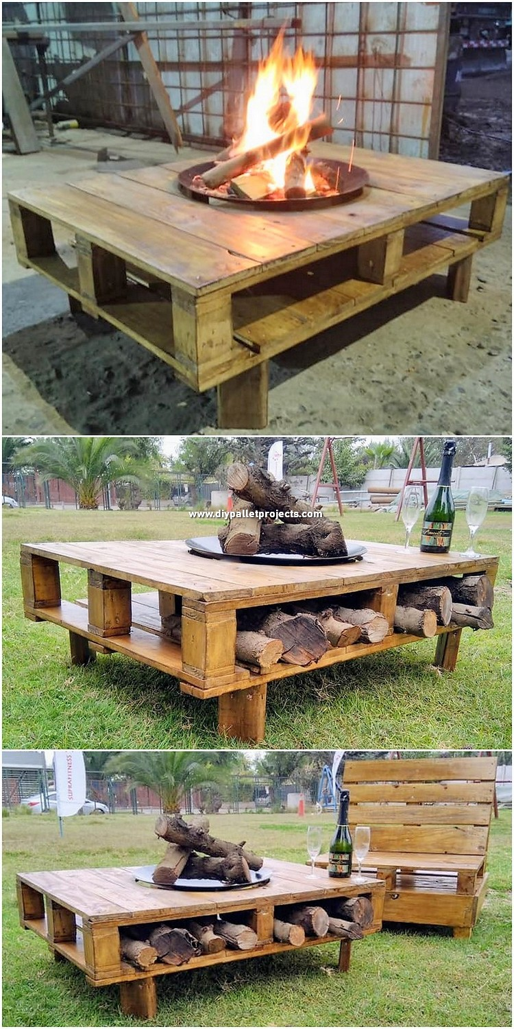 Pallet Grill Table and Chair
