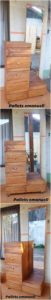 Pallet Mirror Frame with Chest of Drawers