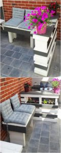 Pallet Planter Table and Bench
