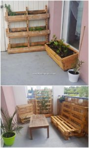 Pallet Planters and Outdoor Furniture