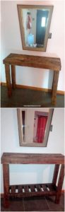 Pallet Table and Mirror Frame