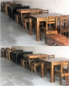 Pallet Tables and Chairs