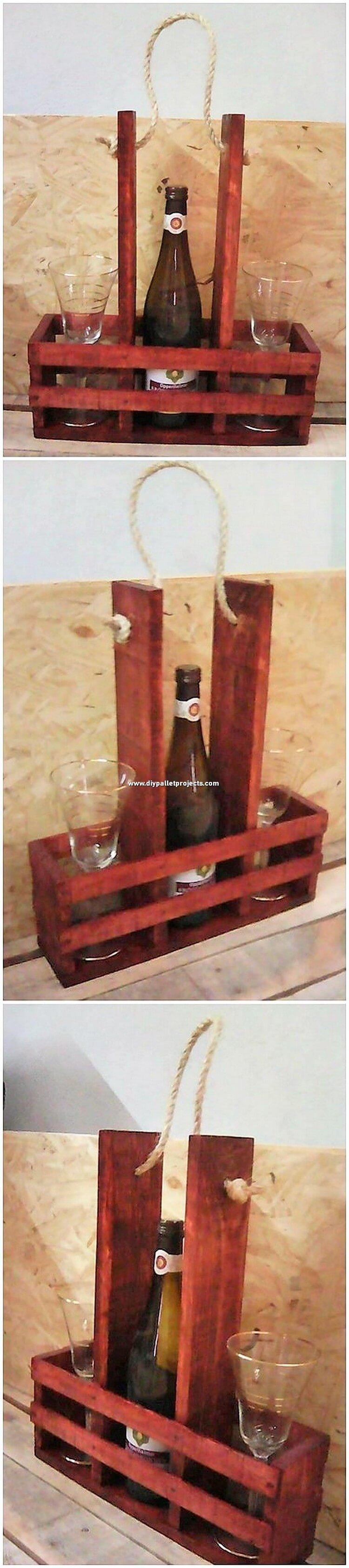Pallet Wine Bottle Rack