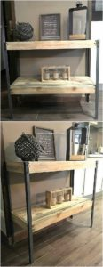 Pallet Wood Shelving Table