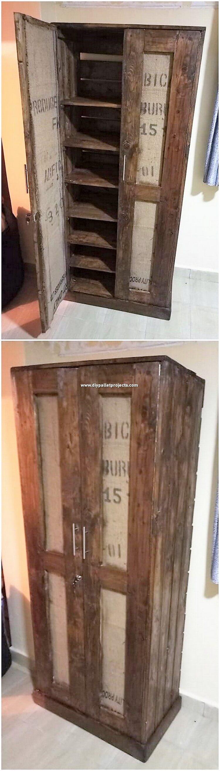 Pallet Wooden Cabinet