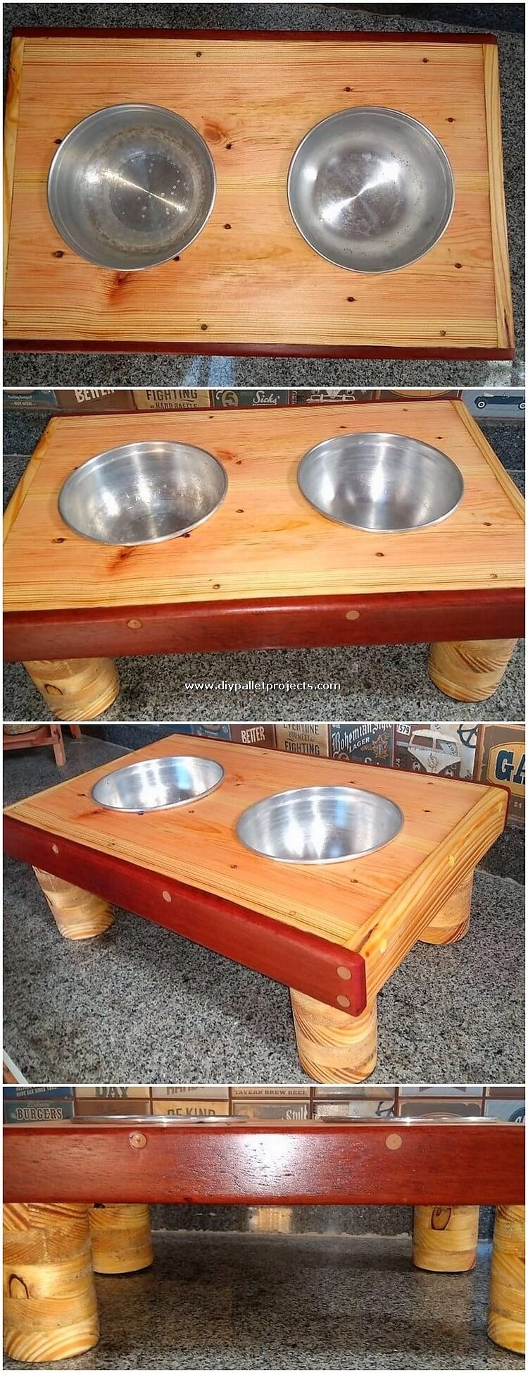 Pallet Dog Food Feeder