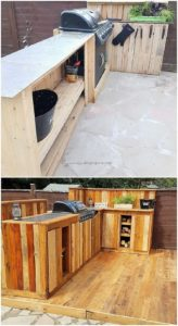 Pallet Outdoor Kitchen