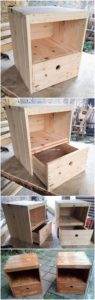 Pallet Side Tables with Drawers