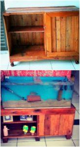 Pallet Aquarium Stand or Cabinet