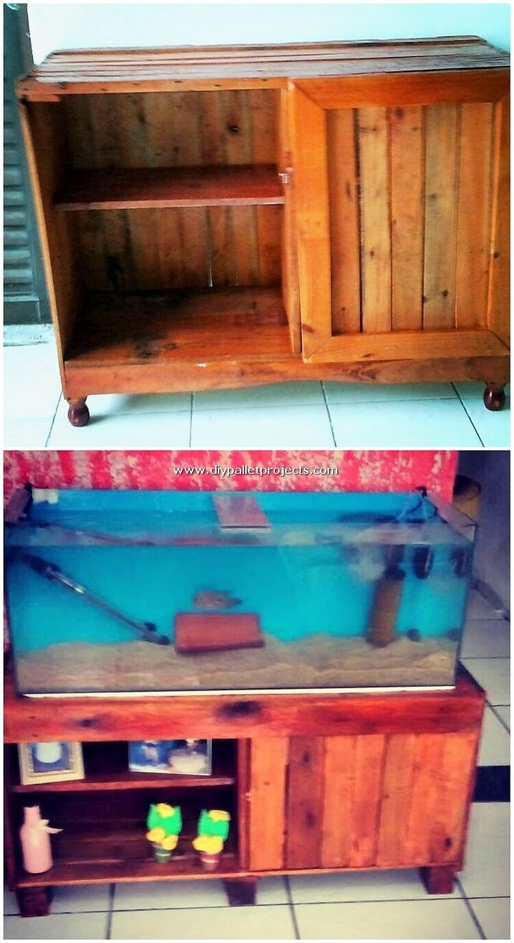 Pallet Aquarium Stand or Cabinet