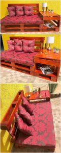 Pallet Bench with Side Table
