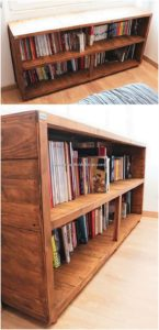 Pallet Book Shelving
