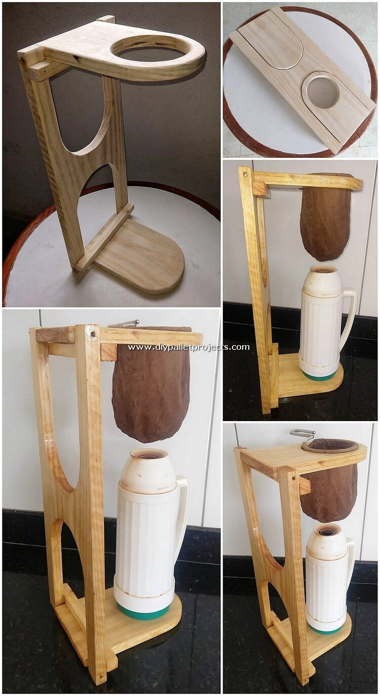 Pallet Coffee Filter Holder
