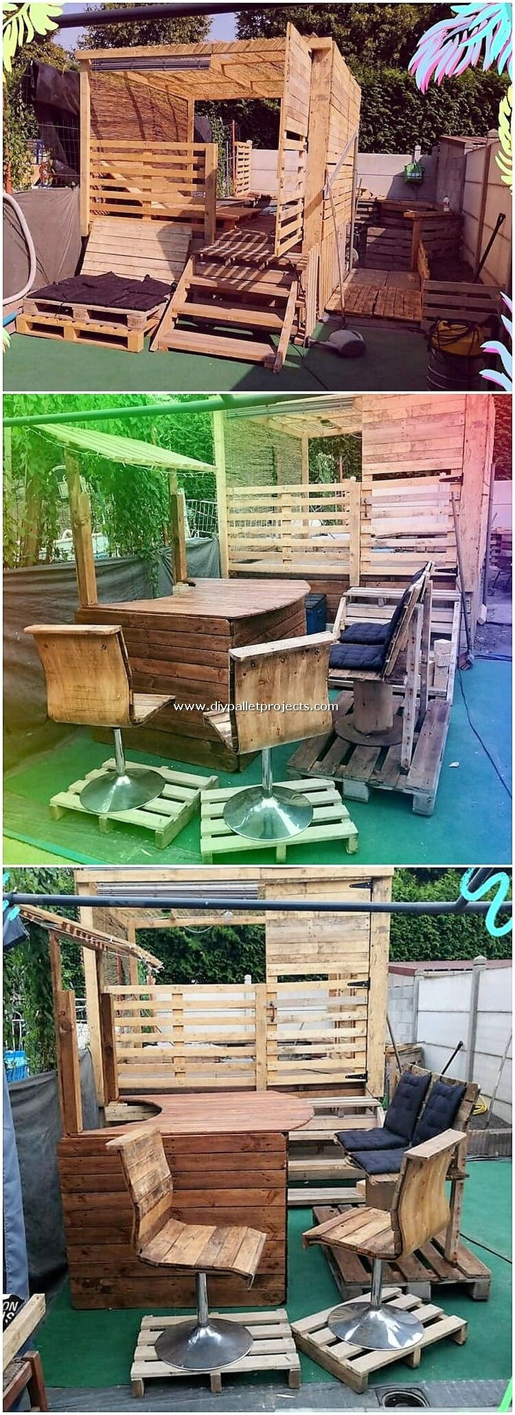 Pallet Garden Furniture and Counter Table