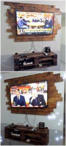 Pallet Wall LED Holder and Media Shelf