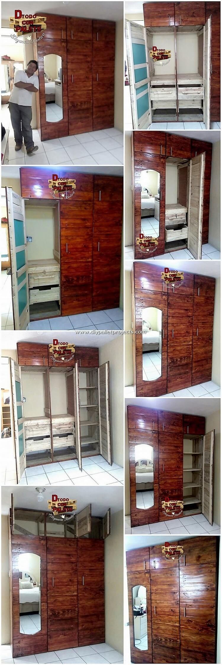 Pallet Wardrobe or Closet
