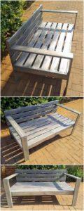 Pallet Wood Garden Bench