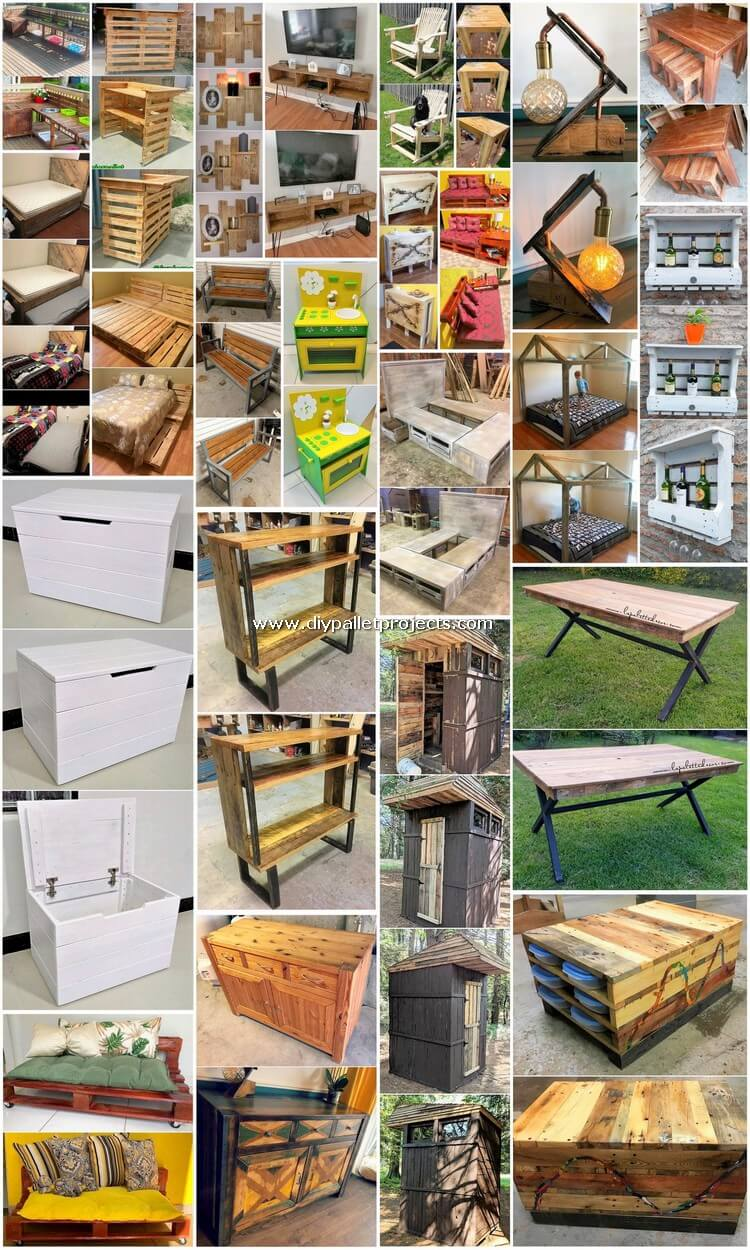 Unbelievable DIY Creations Made with Old Pallets