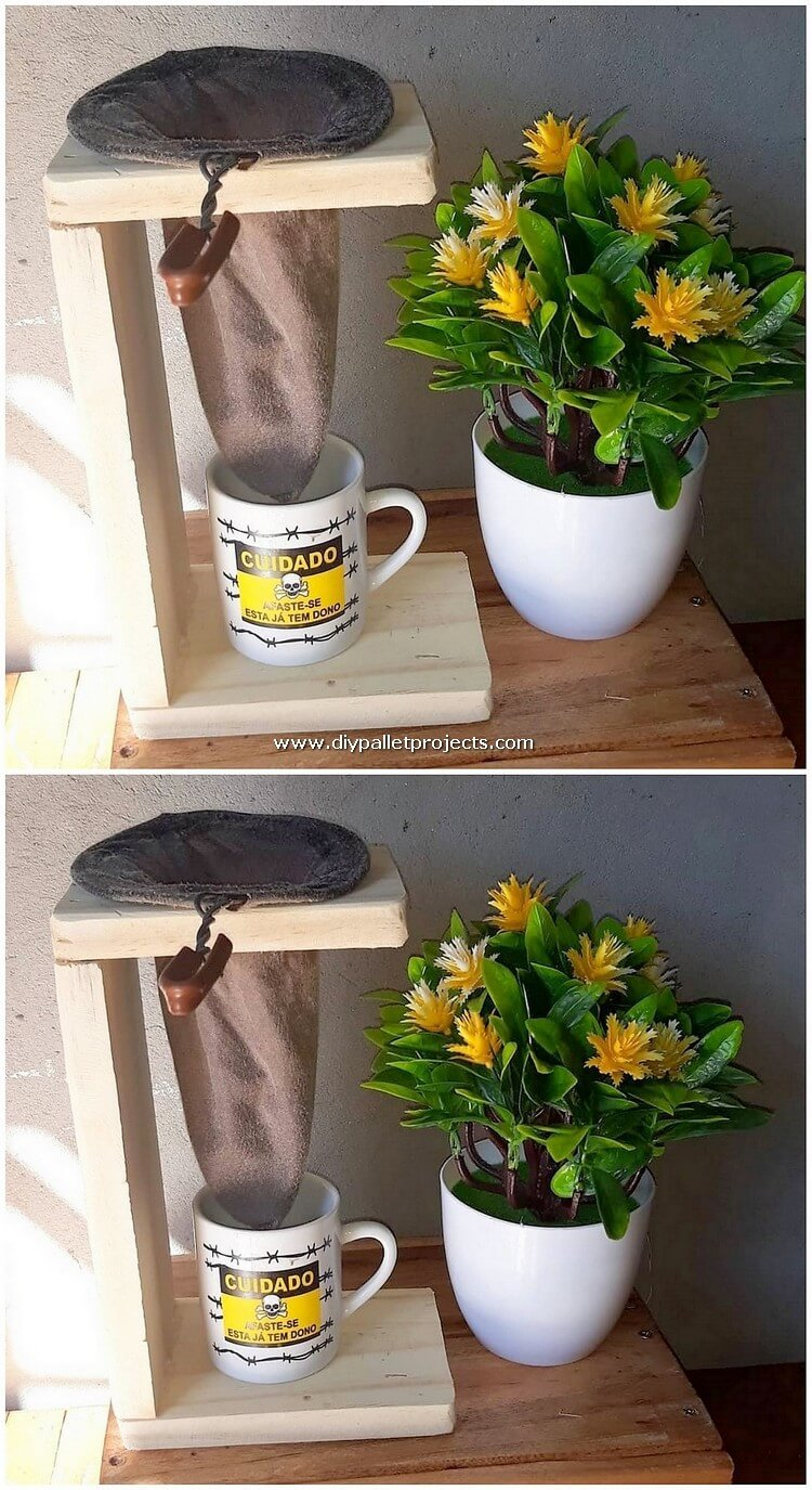 Wood Pallet Coffee Filter