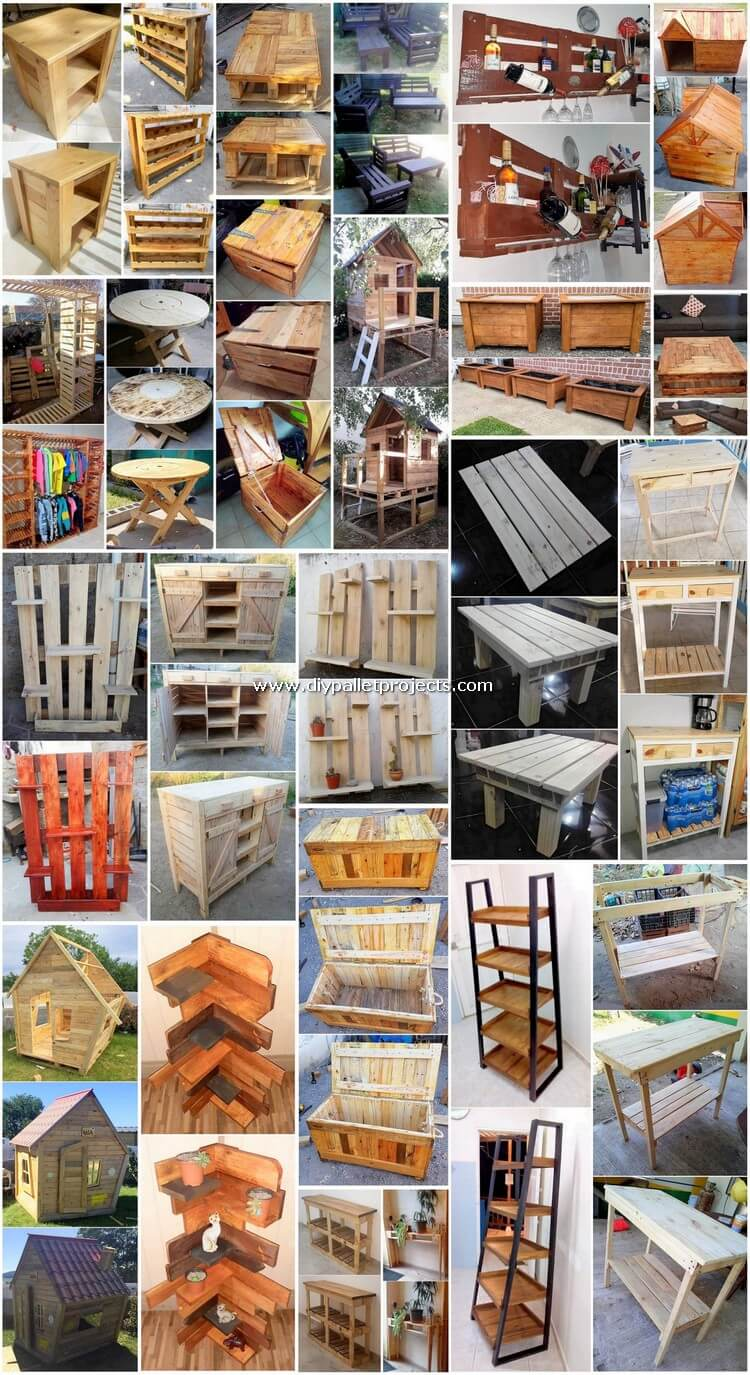 Creative DIY Used Shipping Pallets Recycling Ideas