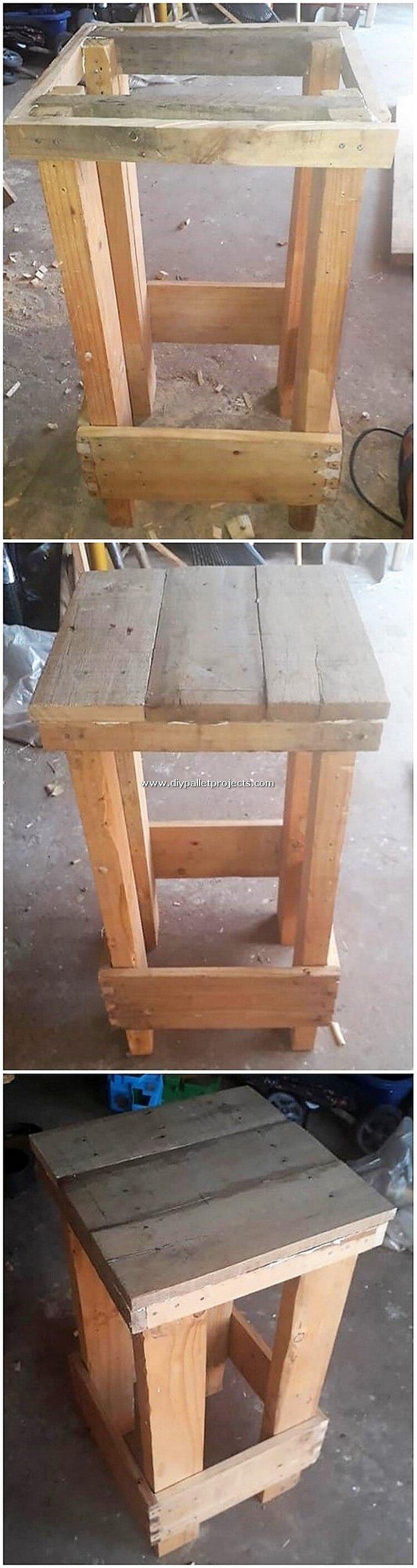 DIY Pallet Stool