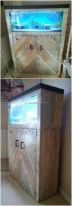 Pallet Aquarium Stand with Cabinet