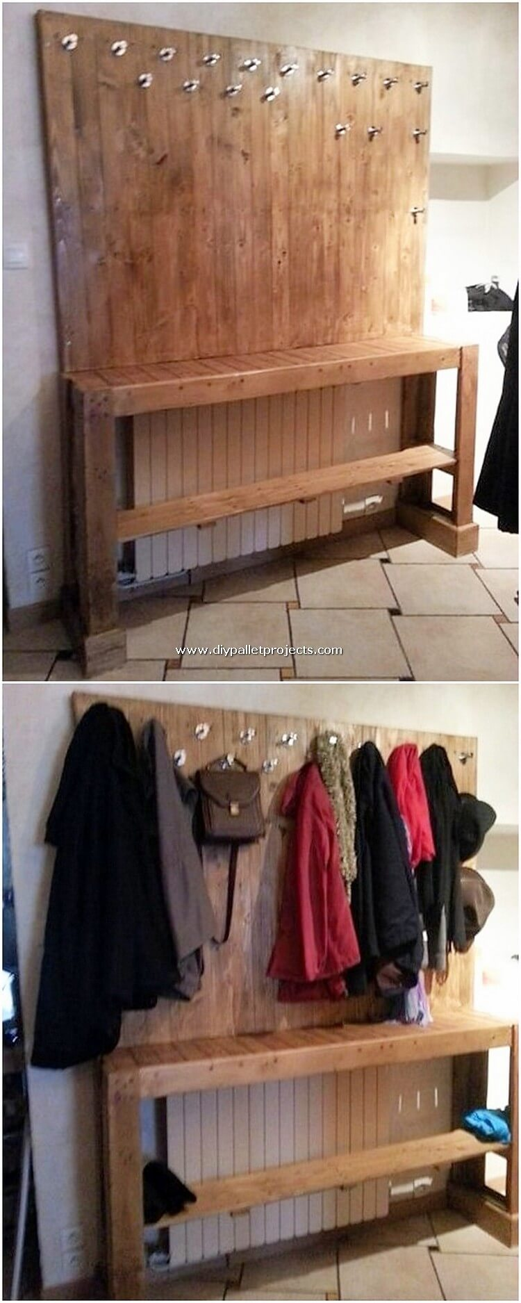 Pallet Coat Rack and Table