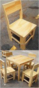 Pallet Mini Dining Furniture for Kids