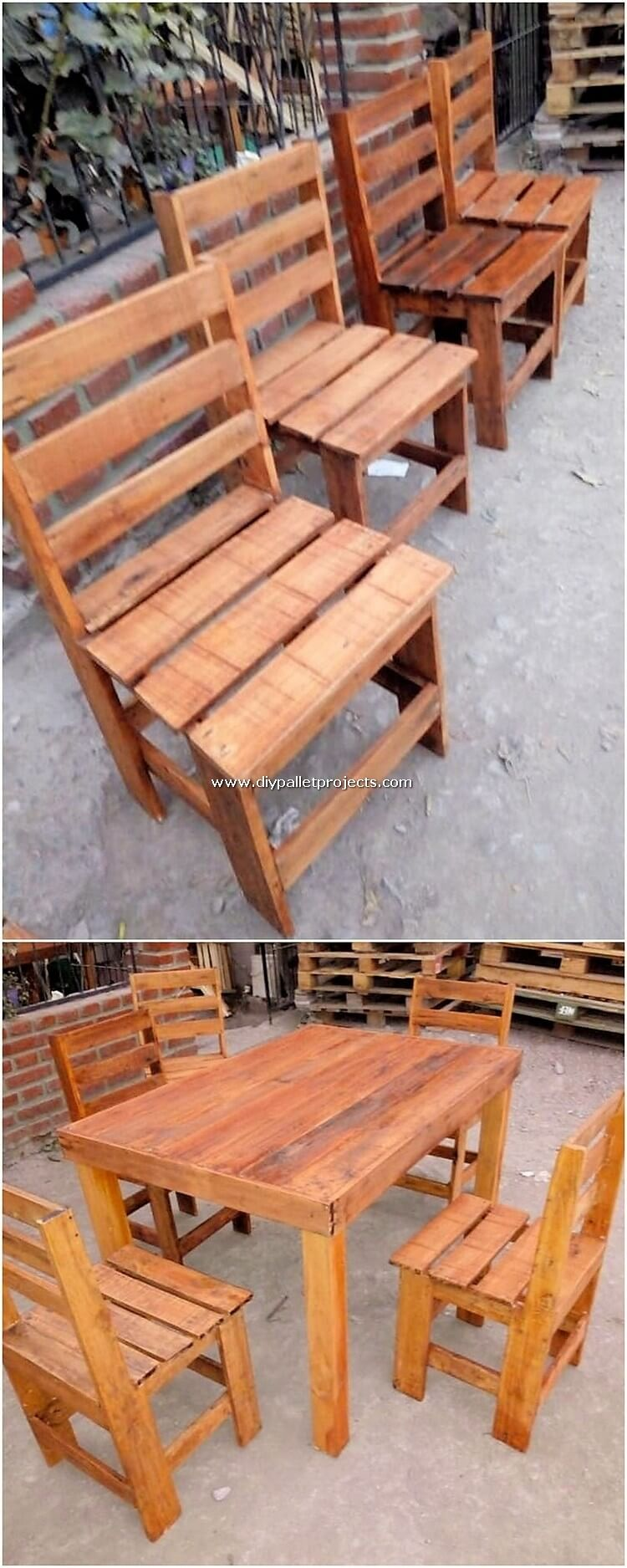 Pallet Outdoor Dining Furniture