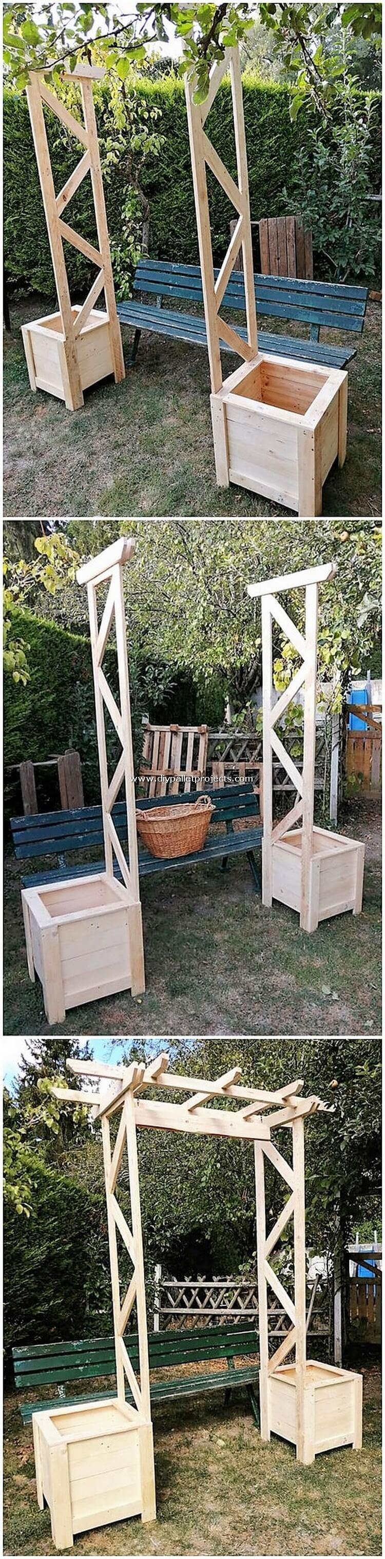DIY Pallet Garden Entrance