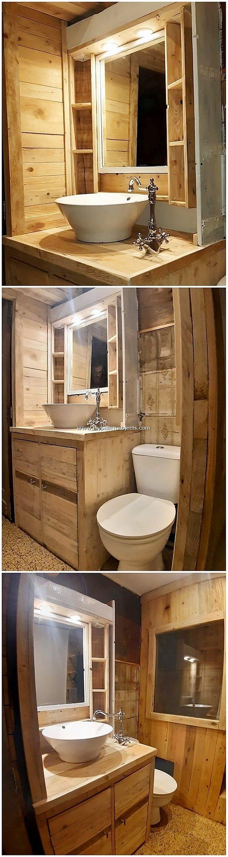 Pallet Bathroom Sink
