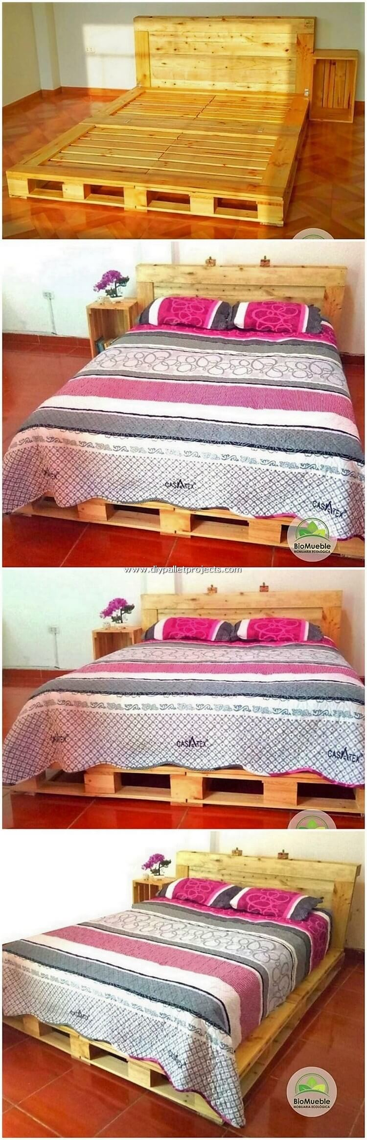 Pallet Bed and Side Table