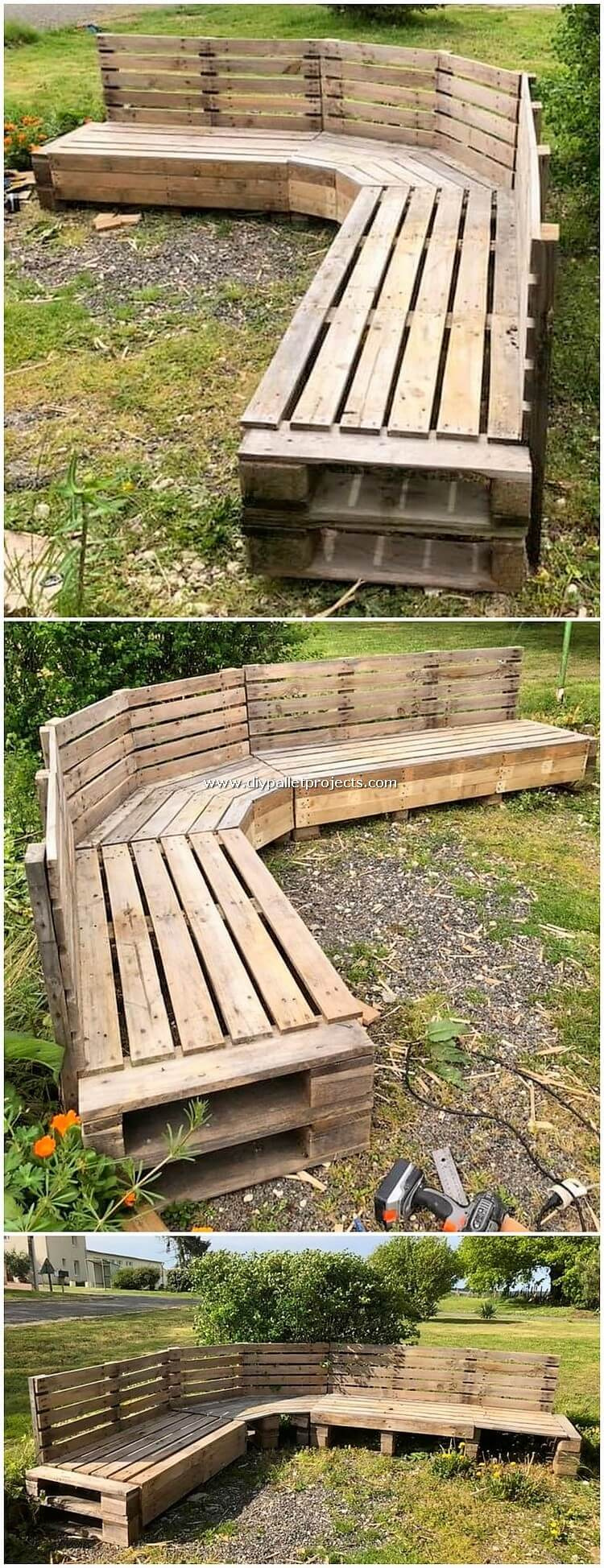 Pallet Garden Bench or Couch