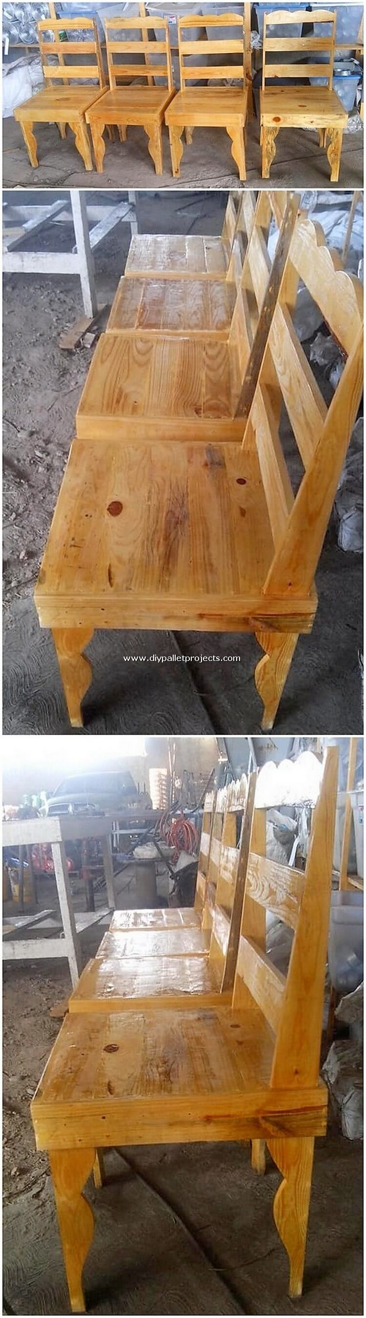 Pallet Wood Chairs